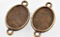 Link oval bronz 18x13mm interior