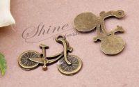 Charm bicicleta bronz 25x20mm