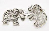 Pandantiv elefant argintiu antichizat
