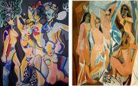 tablou pe panza interpretare dupa Picasso