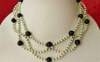 Colier perle si piatra soarelui verde