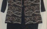 Compleu vesta + rochie pictata manual