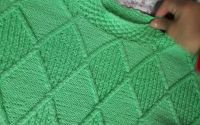 Bluz verde handmade - tricotat manual