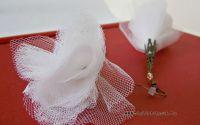 Cercei material textil - plasa