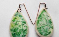 Lacrimi verzi -Modern style earrings