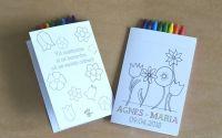 place card plic dar floral cu creioane colorate