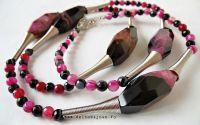 Set de bijuterii - agate- Camellia