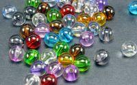 100buc Margele acril colorate transparente 8mm