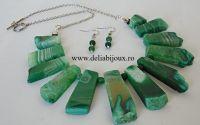 Set de bijuterii agate verzi 02