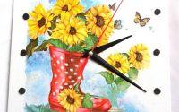 ceas cu floarea soarelui