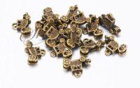 Charm caleasca bronz antichizat