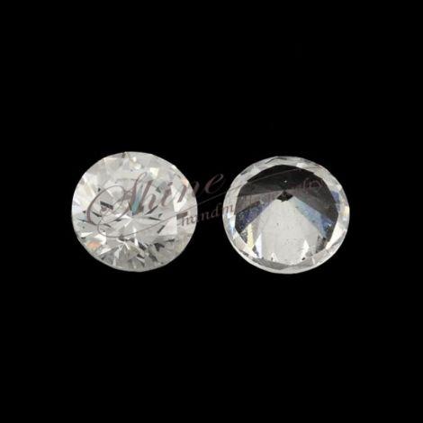 Zirconiu conic transparent cabochon 12mm