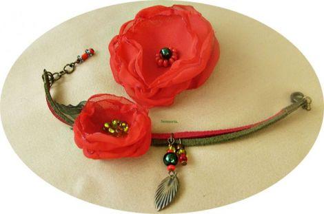 set floral rosu