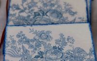 Suport pahare - motiv floral albastru