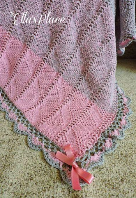 Paturica Tricotata si crosetata pentru bebelusi