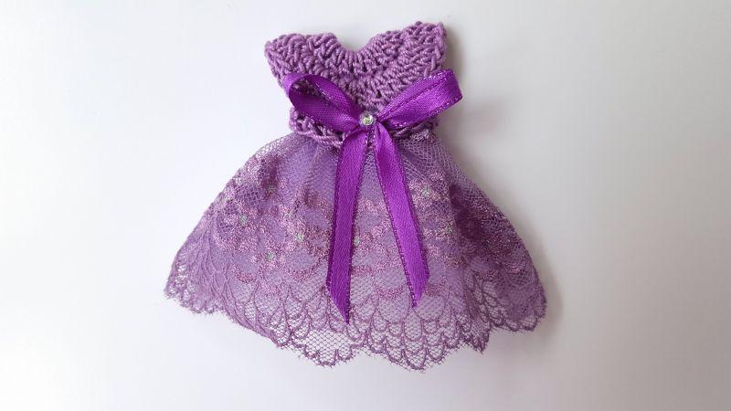 Marturii Botez Magnet Rochita Violet Atelierulberzelor Crafty