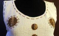 Bluza pictata manual cu doi sori
