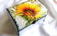 cutie cu floarea soarelui