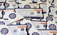 Invitatie bilet de calatorie ccroaziera vapor