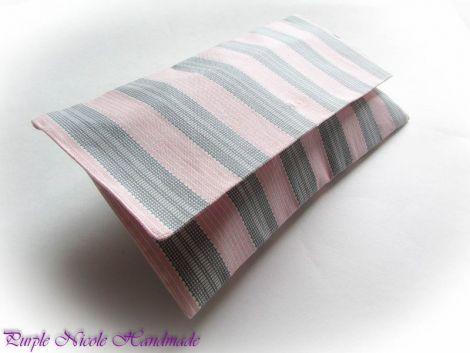 Serious Pink  - geanta plic dungi roz gri