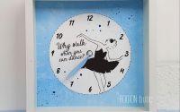Ceas personalizat balerina pictat manual cu mesaj