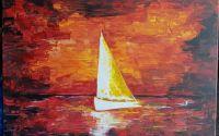 Tablou Barca pe valuri