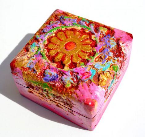 Obiect Decor Unicat Pictura Ornamentala pe Lemn