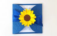 Invitatii nunta Floarea soarelui