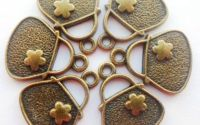 Charm geanta bronz