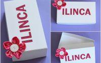 cutii personalizate nume litere decupate textil