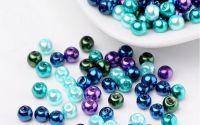 200 buc margele sticla perlate Ocean Mix 4mm