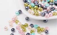 200 buc margele sticla perlate Pastel Mix 4mm