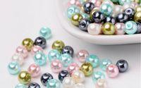 100 buc margele sticla perlate Pastel Mix 6mm