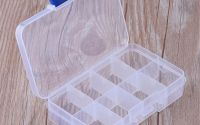 Cutie plastic 8 compartimente 10.8x7x2.3cm