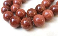 Goldstone maro sferic 6 mm