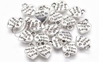 Charm inima Made with Love