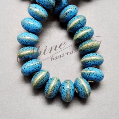 Margele abacus Sky Blue 12x7mm