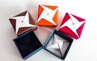 Cutie colorata origami - Model stea 1