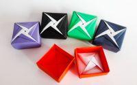 Cutie colorata origami - Model stea 2