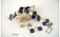 Set lapis lazuli si perle de cultura