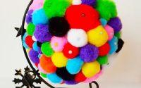 Glob pompoms multicolor