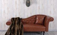 Sofa Chesterfield din lemn masiv cu tapiterie maro