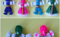 Brosa papusa ata cu tricol marturie traditionala