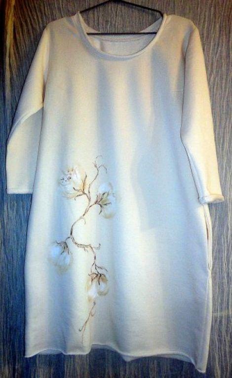 """Rochie pictata """"Cotton flower"""""""