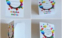 place card plic de dar grafica petrecere baloane