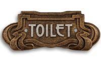 Decoratiune metalica art nouveau pentru toaleta