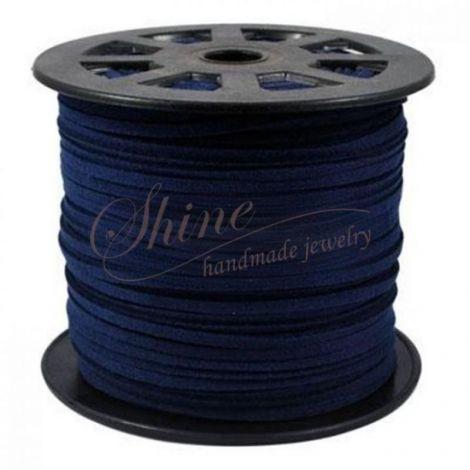 Snur suede Dark Blue 4x1.5mm