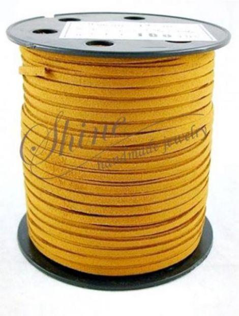 Snur suede Dark Goldenrod 3x1.5mm