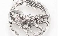 Pandantiv lup argintiu antichizat