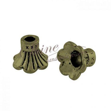 Capac floare bronz 9x11mm